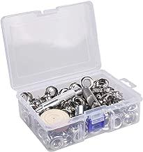 Ojales de 12 mm para placa de níquel plateado con agujeros internos y herramientas para perforar abalorio en los núcleos, ropa, piel, lona, paquete de 200 unidades