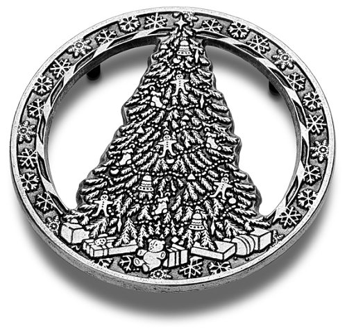 Wilton Armetale Tree-with-Snowflake Trivet