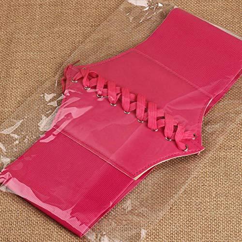 Huien Fashion Design elastische brede riem Kant decoratie Match vrouwelijke tailleband riem voor dames, rood