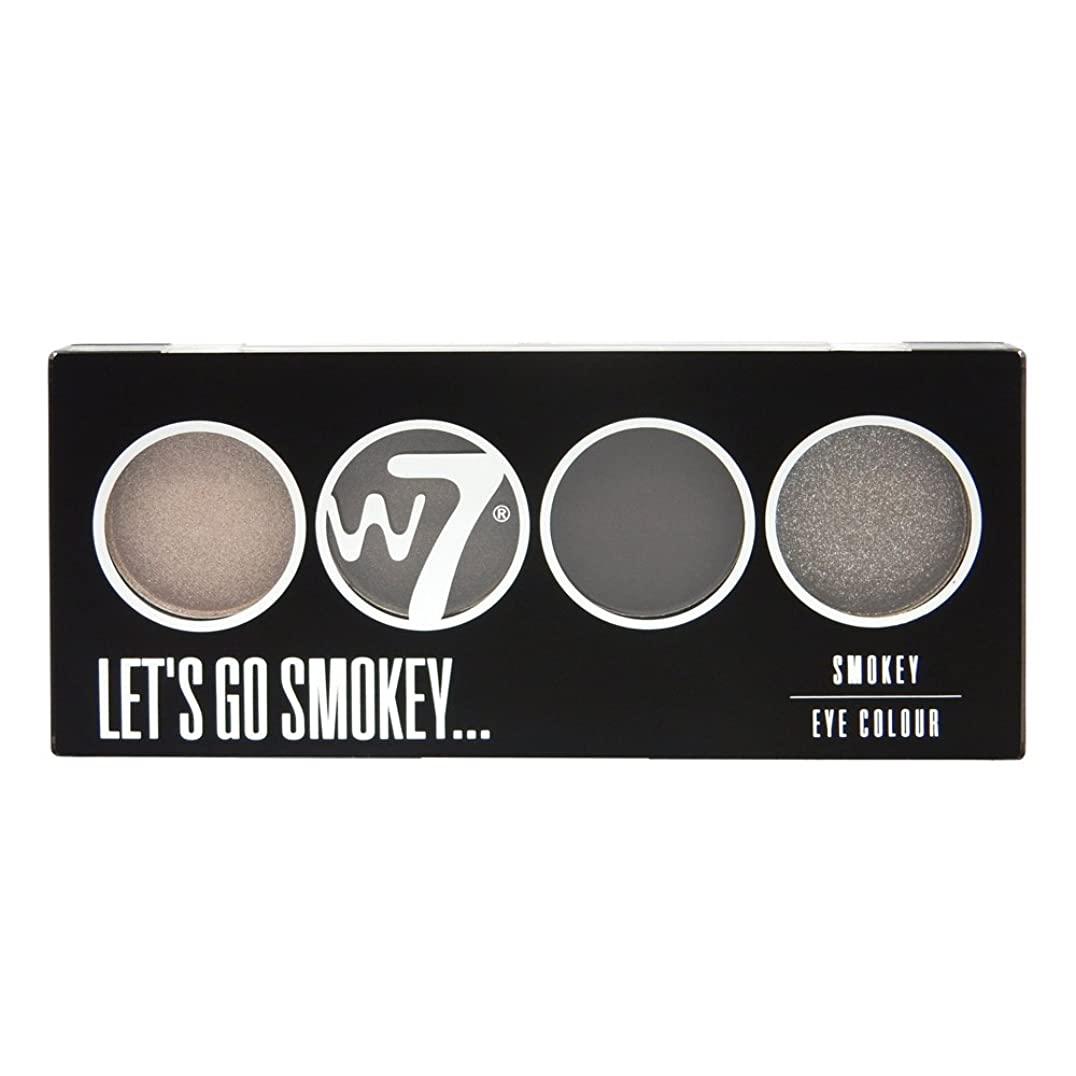 作業を除くカビW7 Let's Go Quad Eye Color Palette - Let's Go Smokey (並行輸入品)