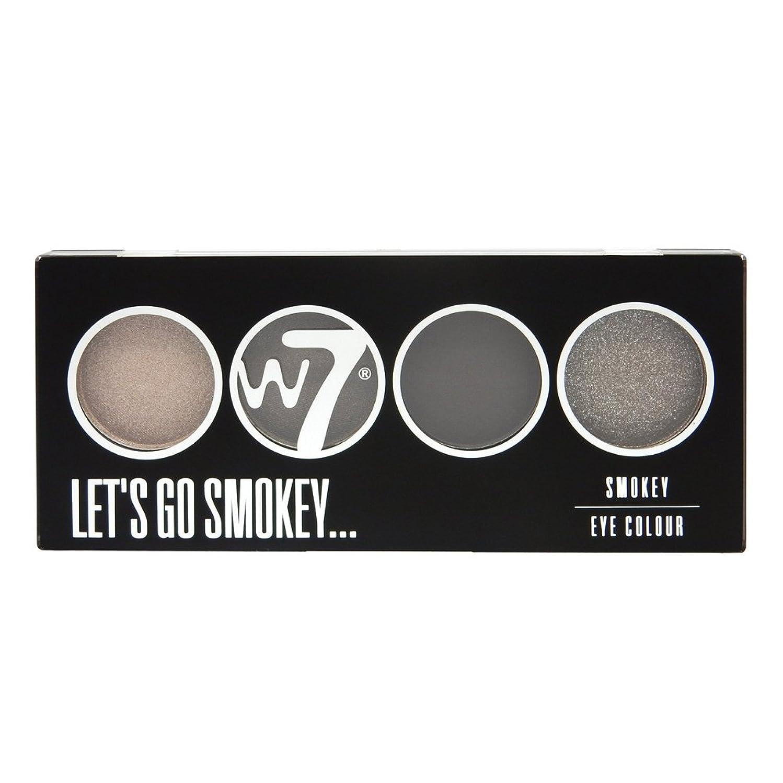 置換注入する囲まれたW7 Let's Go Quad Eye Color Palette - Let's Go Smokey (並行輸入品)