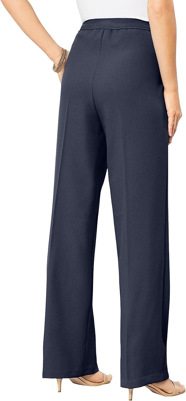 Roamans Women's Plus Size Wide-Leg Bend Over Pant