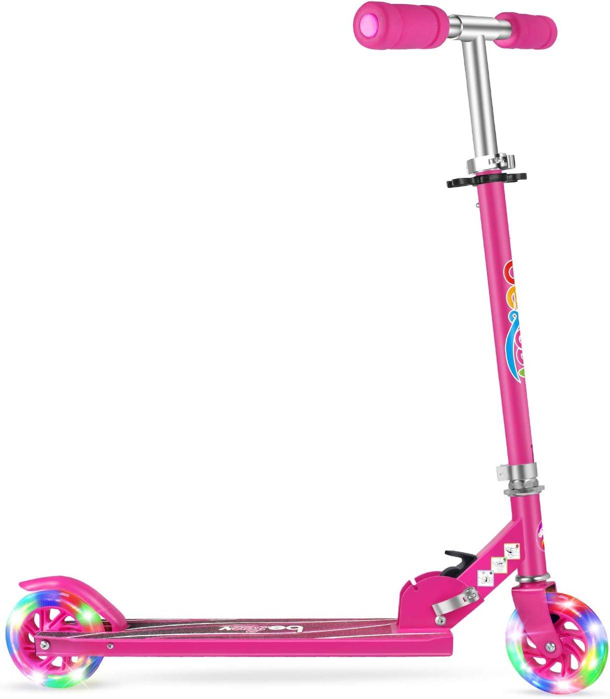 New sales Beleev V1 Award-winning store Scooters for Kids 2 Folding Kick Gir Wheel Scooter