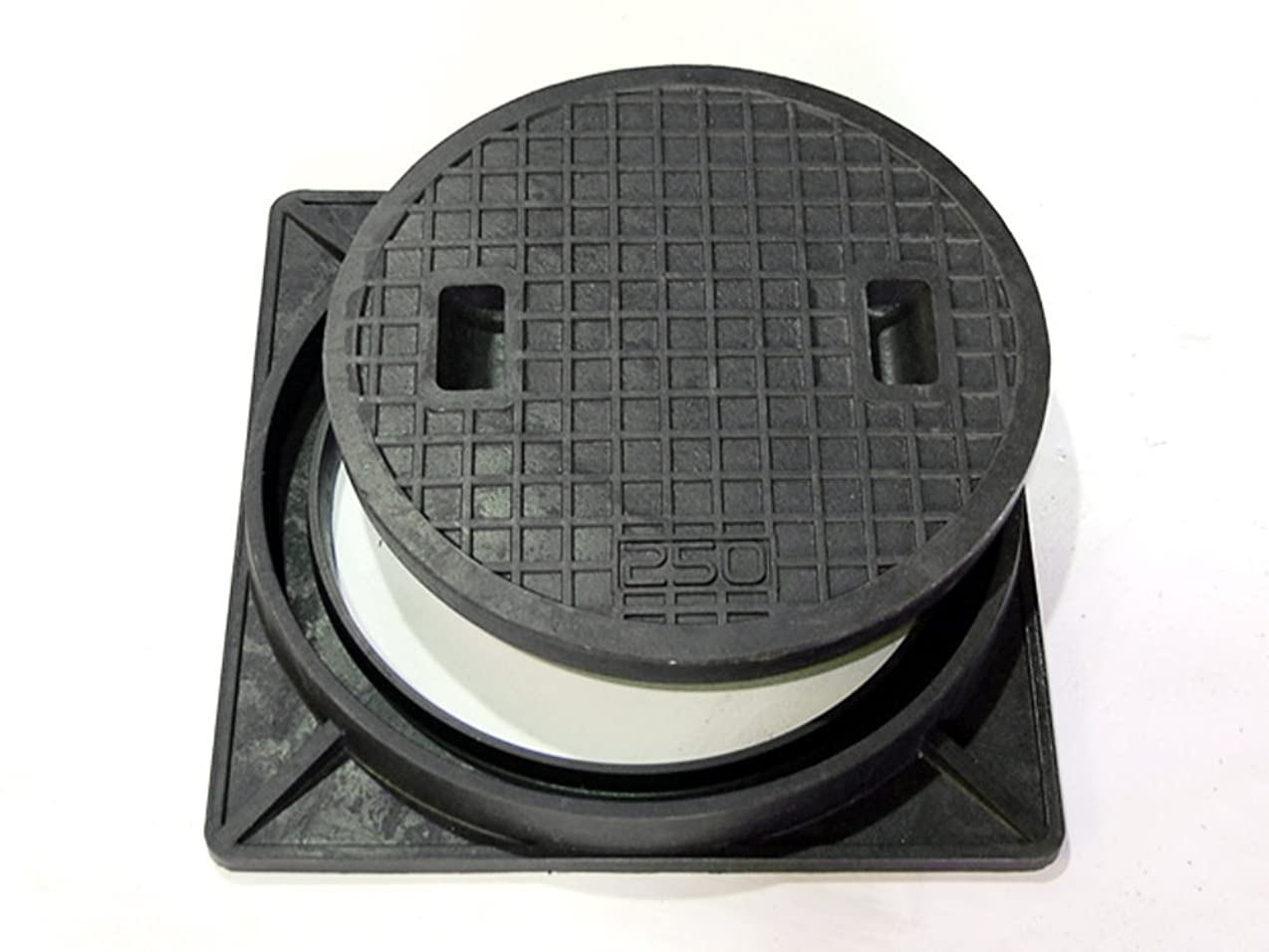 救い誘発するアーティスト複合樹脂製マンホール(歩道用) 蓋+枠セット フタ径450mm 穴径400mm HRM-400