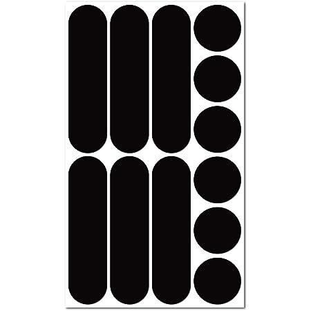 B REFLECTIVE Éco Multi, Kit de 12 Pegatinas Retro Reflectantes, Seguridad y Alta Visibilidad Nocturna, Adhesivo Universal para Bicicleta/Cochecito/Casco/Moto/Motocicleta/Juguetes, Negro
