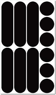 B REFLECTIVE Éco Multi, Kit de 12 Pegatinas Retro Reflectantes, Seguridad y Alta Visibilidad Nocturna, Adhesivo Universal ...