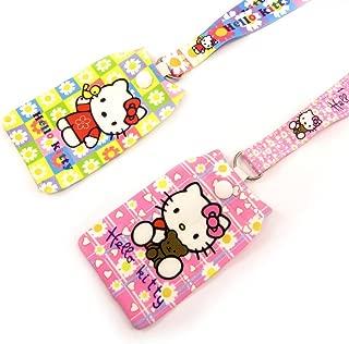 2 leads + phone socks 'Hello Kitty' pink yellow.