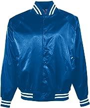 Augusta Sportswear Augusta Satin Baseball Jacket/Striped Trim