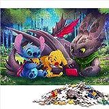 Puzzle Adulto de 1000 Piezas Star Baby: Scooby Doo Animated Poster Puzzle Adulto 1000 Piezas Juguetes intelectuales educativos del Equipo Familiar 52x38cm