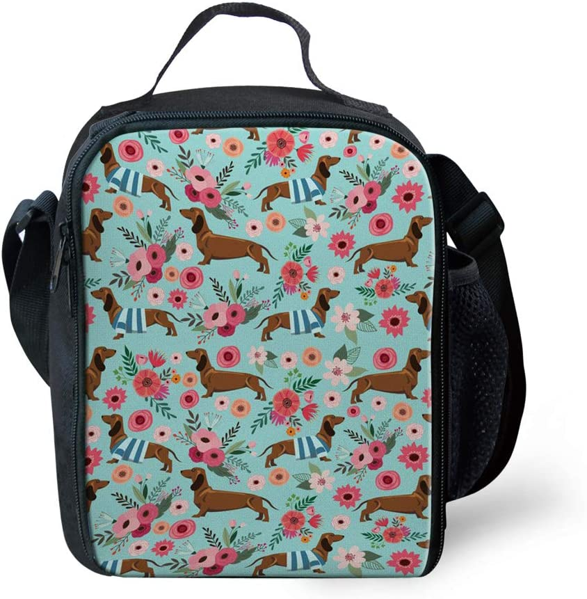 Max 65% OFF Max 57% OFF Salabomia Dachshund Flower Thermal Bneto Cooler Small Lunchboxes