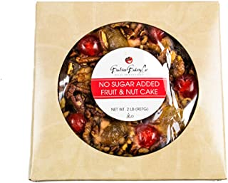 Grandma's Famous Gourmet No Sugar Added Fruitcake One Gram of Sugar Per Serving Keto Diabetic Friendly Holiday Gourmet Treat 2 lb Ring in Gift Box