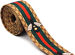 1.77 inch Wide Inspired Striped Ribbon, Square Trim, Grosgrain Ribbon, Ribbon, Double Faced Gross Grain Trim, Guitar Strap 002 (1 Yard)