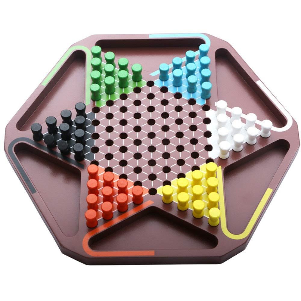 Owenqian Ludo Juego Set Juguetes de Madera for niños Damas Primaria for Adultos Juegos de Mesa Padres e Hijos Juegos interactivos Chinese Checkers Juego de Mesa Juego de Familia: Amazon.es: Hogar
