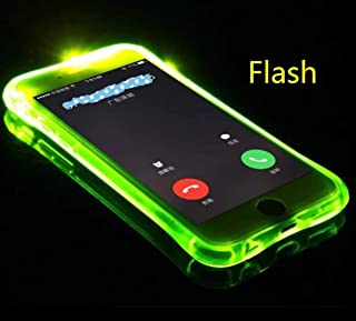 Omio for iPhone Xs Max Flash Case Cool Flashing Light Up to Remind Incoming Call Flexible Cover for iPhone Xs Max Soft Case Creative Flash Alert by Phone's LED Refraction Clear Case for iPhone Xs Max