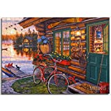 Juego Familiar Puzzle Junto al lago por la nocheHouse Decoration can be customized Paper puzzle 75x50cm