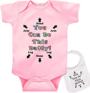 You Can Do This Dad Custom Made Boutique Baby Bodysuit Onesie & Matching bib