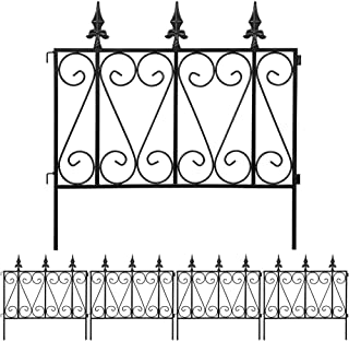 Amagabeli Garden Fence Rustproof Metal Wire Fencing 24inx10ft Outdoor Landscape..