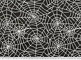 ab 1m: Nylon beflockt, Spinnennetz, schwarz-weiß, 145cm
