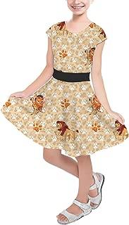 Rainbow Rules Hakuna Matata Lion King Disney Inspired Girls Short Sleeve Skater Dress