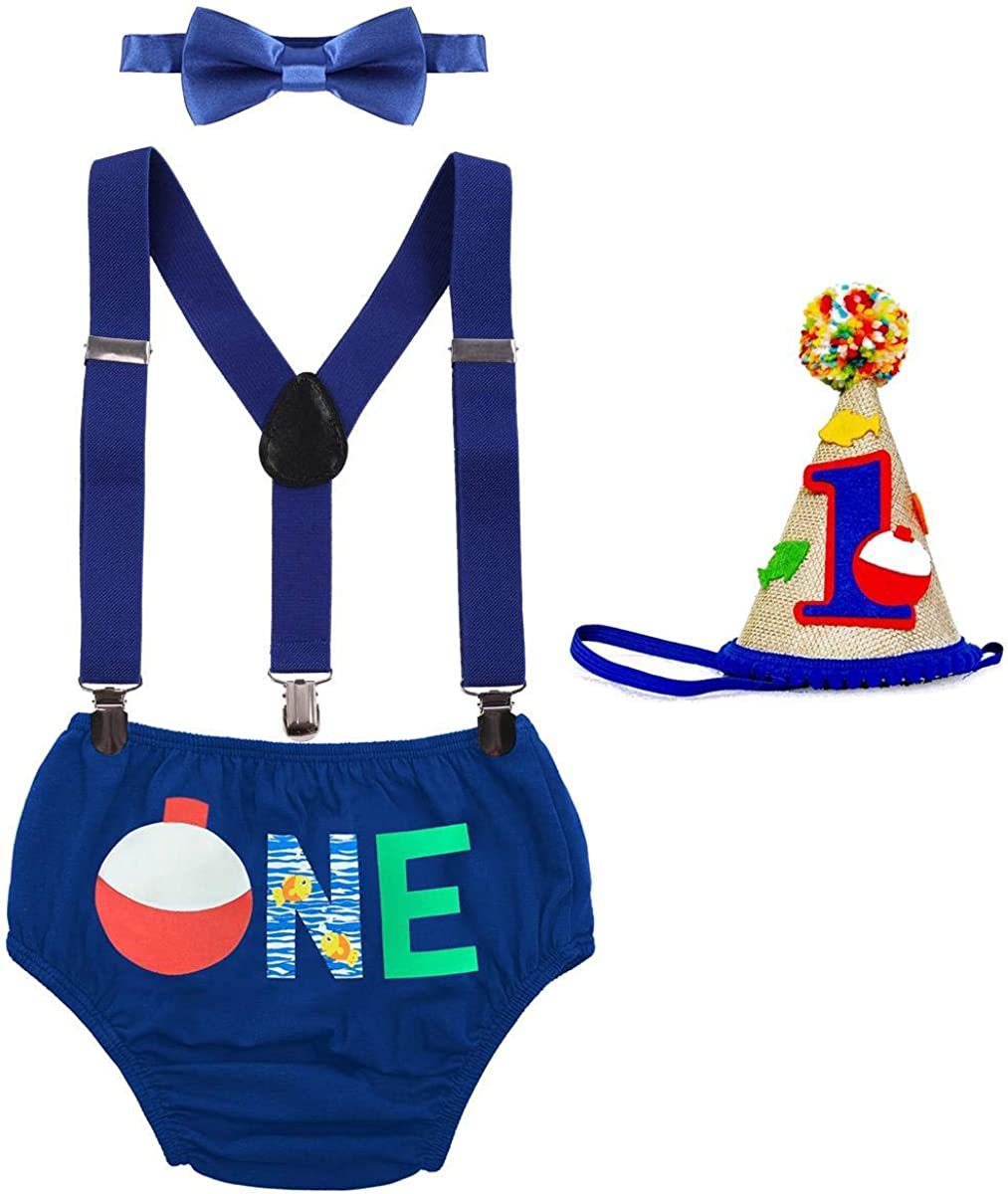 Cake Smash Outfit Baby Boy First Birthday Party