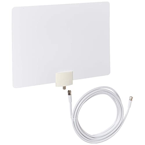 Mohu Leaf 50 TV Antenna Indoor Amplified 60 Mile Range Original Paper-Thin Reversible 4K-Ready Hdtv Premium Materials for Performance MH-110957