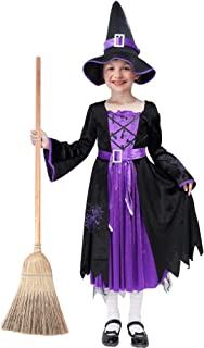 Acekid Halloween Witch Costume Fancy Party Dress Up Outfit for Girls