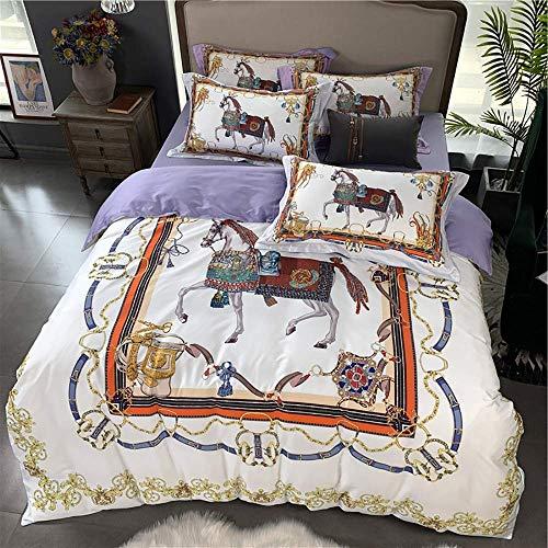 Conjunto de cubiertas de edredón Conjunto de tapa de edredón King Tamaño Pink Duvet Funda Conjunto Conjunto de ropa de cama Doble 4 piezas 100% Egipcio Cubiertas de algodón egipcio Conjunto de cubiert