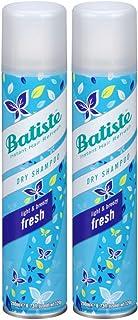 Batiste Instant Hair Refresh Dry Shampoo, Fresh - 6.73 oz (Pack of 2)