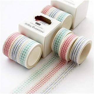 MIYU 3Rolls/Pack اليدوية الديكور ملصق سكرابوكينغ مذكرات شريط لاصق لطيف لوازم القرطاسية الشريط لاصق (اللون: شبكة)