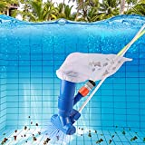 Swimming Pool Vacuums Cleaner, Handheld Pool Spa Pond Mini Jet Vac Vacuum Cleaner with Mesh Bag, Quick Connector for Cleaning Small Swimming Pool SPA Pond Hot tub