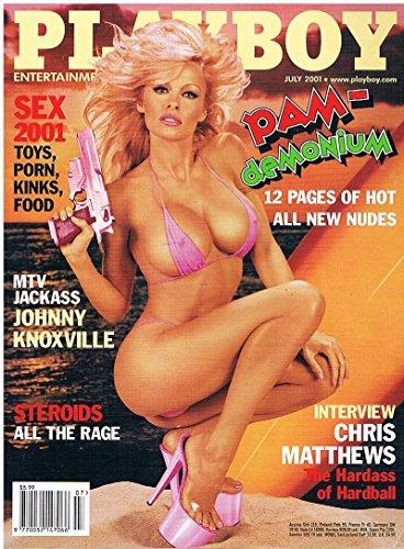US Playboy Magazin Juli 2001 Zeitschrift Original Ausgabe USA 7/2001 Kimberley Stanfield Ultimate Pamela Anderson pictorial, Ginger Harrisson Chris Matthews Johnny Knoxvill