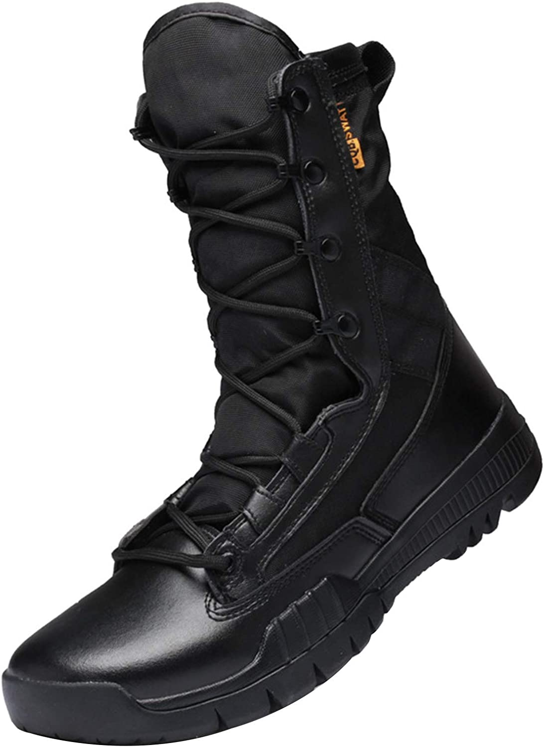 Men's Outdoor High-top Combat Boots, Lightweight and Breathable Hiking Boots, Camping Desert Boots, Safety Work Shoes, Used for Hiking, Hunting, Camping