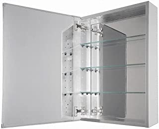 15 in. x 26 in. Recessed or Surface Mount Medicine Cabinet in Beveled Mirror