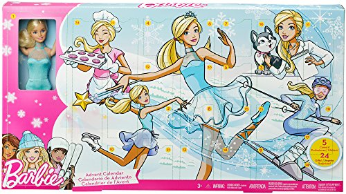 Barbie- Advent Calendar Calendario de Adviento, Multicolor (
