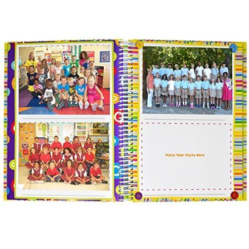 School Memory Book Album Keepsake Scrapbook Photo Kids Memories from Preschool Through 12th Grade with Pockets for… |