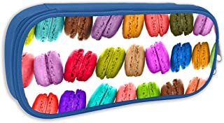YunHanus French Macarons Pencil Case Big Capacity Pencil Bag Makeup Pouch Durable Students Stationery Best for School/Office