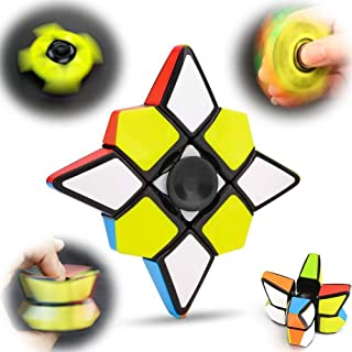 Fidget Hand Spinner Rubiks Cube Magic 1x3x3 Speed Cube Puzzle Floppy Block Puzzle Fingertip Gyro Anxiety Stress Relief Xmas Birthday Best Gift ADHD EDC Toys Party Favors For Kid Adults Friends(1x3x3)