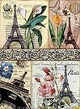 Papel de Arroz Cadence Postales Torre Eiffel Ref. 370