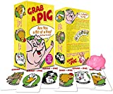 Grab a Pig Card Game, Fun Family Game for Ages 6 Plus, Good Size for Travel, Quick to Learn and Easy to Play for Children and Adults