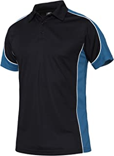 Men's Short Sleeve Polo Shirt Sport Pullover Outdoor Hiking Patchwork Polo T-Shirt