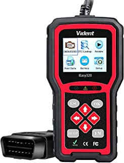 VIDENT iEasy320 Universal Obdii/Eobd+Can Code Reader Obd2 Diagnostic Scan Tool for Car Engine Fault Code Reader/O2 Sensor Systems Diagnostic/On-Board Monitor/Component Test Multi-Language