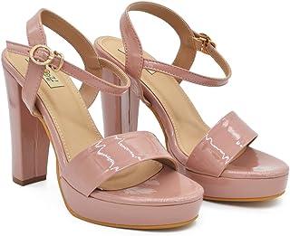 Women's & Girls Block Heel Buckle Slip-on Sandals