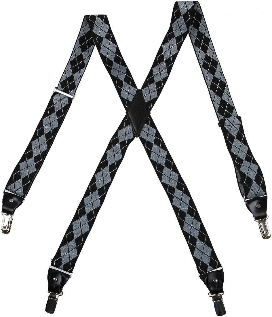 Y&G Men's Fashion Fashion Multicoloured Suspenders Clip-end Brace Y-back