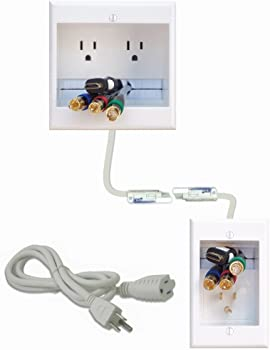 PowerBridge Dual Outlet Recessed In-Wall Cable Management System