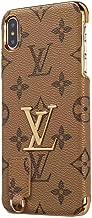 iPhone XR Fashion Metal Logo Case, New Elegant Luxury Classic Case Pu Leather with Monogram Metal Logo Case Cover iPhone XR - Yellow