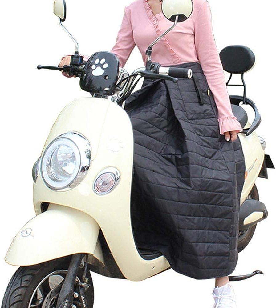 Cubre Piernas para Motos, Motor Scooter Cubierta A Prueba De Viento, Manta Térmica Cubre Piernas para Moto, Universal Manta para Scooter Impermeable Oxford - Color Negro