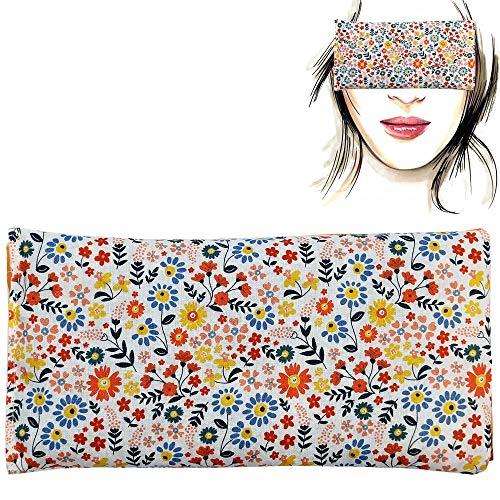 Almohada para los ojos 'Primavera'   Semillas de Lavanda y arroz   Yoga, Meditación, Relajación, descanso de ojos...