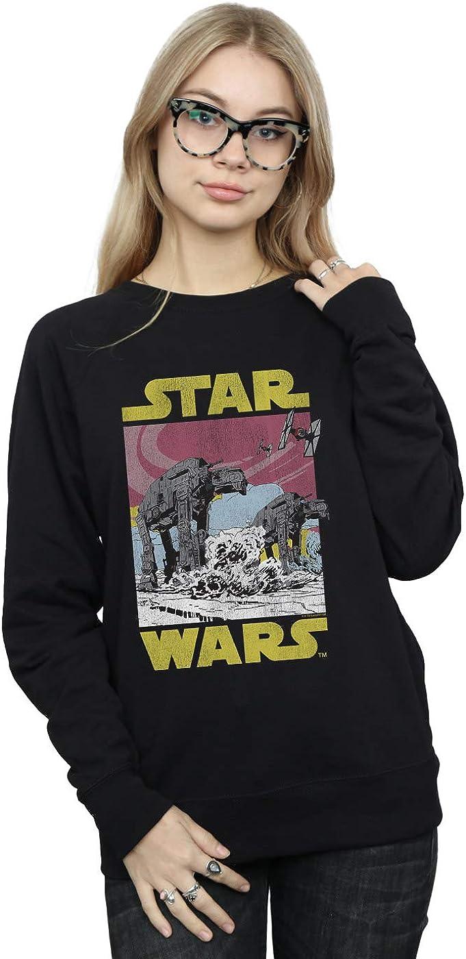 Star Wars Gifts Women's The Last latest Jedi Sweatshirt AT-AT