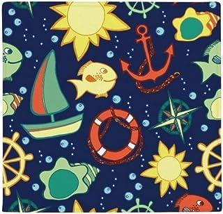 DIYthinker navegación Barco de los Pescados del océano Colorido Antideslizante Piso Estera del Animal doméstico Plaza Prin...
