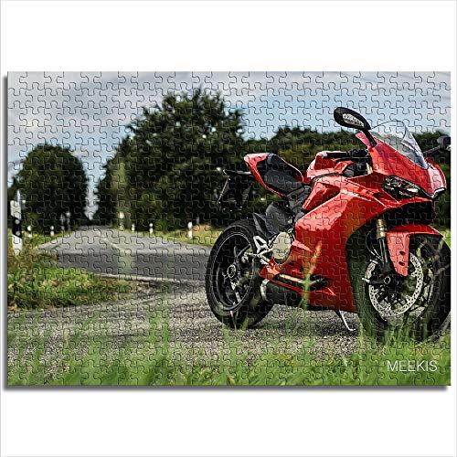 CELLYONE Puzzle Adulto 1000 Piezas Ducati Rompecabezas de 1000 Piezas Juguetes de Entretenimiento Familiar(38x26cm)